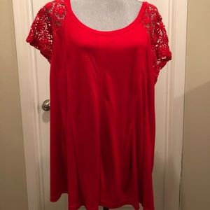 Tops - Red lace top